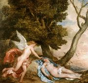 Dyck, Anthony van Cupid and Psyche (mk25) oil painting reproduction