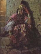 Etienne Dinet Une Ouled Nail (mk32) oil painting