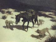 Frederic Remington Last March (mk43) oil painting picture wholesale