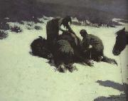 Frederic Remington The Hungry Moon (mk43) oil painting picture wholesale