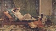 Frederick Goodall A New Light in the Harem (mk32) oil painting