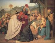 Friedrich Johann Overbeck The Adoration of the Magi (nn03) oil painting