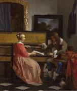Gabriel Metsu The Music Lesson (nn03) oil painting reproduction