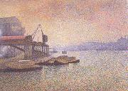 Georges Lemmen View of the Thames (nn02) oil painting