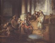 Gerbrand van den Eeckhout Christ teaching in the Synagogue at Nazareth (mk33) oil painting