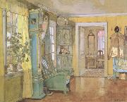 Gerhard Munthe Antechamber in the Artist's Home (nn02) oil painting