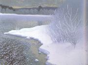 Gustaf Fjaestad Hoar-Frost on the Ice (nn02 oil painting