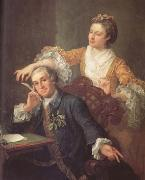 HOGARTH, William David Garrick and his Wife (mk25) oil painting picture wholesale