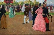 Henri Evenepoel Sunday Promenade at Saint-Cloud (nn02) oil painting