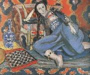 Odalisque with a Moorish Chair (Odalisque in Grey with Chessboard) (mk35)