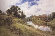 Henry h.parker Woolhampton,Berkshire (mk37) oil painting picture wholesale