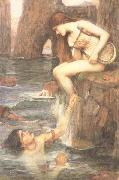 John William Waterhouse The Siren (mk41) oil painting artist