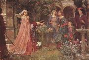 John William Waterhouse The Enchanted Garden (mk41) oil painting picture wholesale