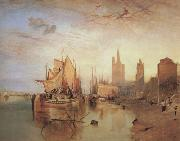 Joseph Mallord William Turner Cologne,the arrival lf a pachet boat;evening (mk31) oil painting reproduction