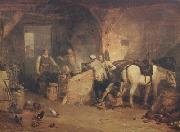 Joseph Mallord William Turner A country blacksmith disputing upon the price of iron,and the price charged to the butcher for shoeing his pony (mk310 oil painting picture wholesale