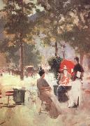Konstantin Korovin Paris Cafe (nn02) oil painting