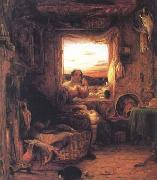 Mulready, William Interior of an English Cottage (mk25) oil painting picture wholesale