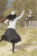Percy tarrant She gave a Sort of Shout and ran towards  us (mk37) oil painting picture wholesale