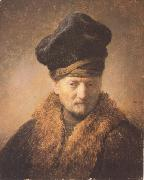 Bust of an old man in a fur cap (mk33)