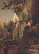 REMBRANDT Harmenszoon van Rijn Details of Christ appearing to Mary Magdalen (mk33) oil painting reproduction