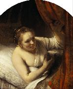 A young Woman in Bed 9mk33)