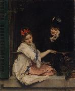 Raimundo de Madrazo y  Garreta Women at a Window (nn02) oil painting artist
