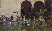 Raimundo de Madrazo y  Garreta Pool in the Alcazar of Seville (nn02) oil painting picture wholesale