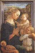 Filippo Lippi.Madonna with Child and Angels or Uffizi Madonna (mk36)