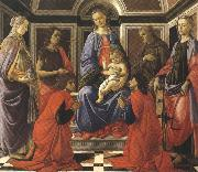 Madonna enthroned with Child and Saints (mk36)
