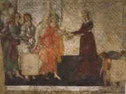 Venus and the Graces offering gifts to a young woman (mk36)
