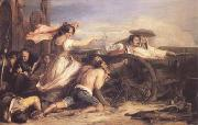 Sir David Wilkie The Defence of Saragossa (mk25) oil painting picture wholesale