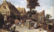 Peasants dancing outside an Inn (mk25)