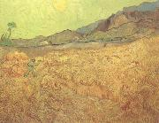 Wheat Fields with Reaper at Sunrise (nn04)