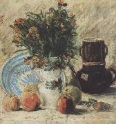 Vase with Flowers Coffeepot and Fruit (nn04)