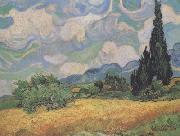 Wheat Field with Cypresses at the Haute Galline near Eygalieres (nn04)