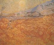 Wheat Field behind Saint-Paul Hospital with a Reaper (nn04)