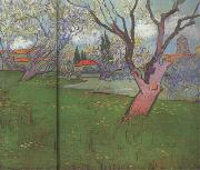View of Arles with Trees in Blossom (nn04)