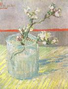 Blossoming Almond Branch in a Glass (nn04)