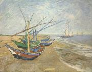 Fishing Boats on the Beach at Saintes-Maries (nn04)