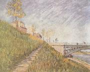 Banks of the Seine wtih the Pont de Clichy (nn04)