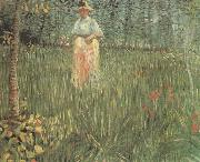 A Woman Walking in a Garden (nn04)