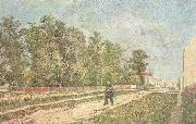 Outskirts of Paris:Road with Peasant Shouldering a Spade (nn04)