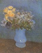 Vase wtih Lilacs,Daisies and Anemones (nn04)