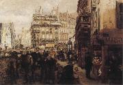Adolph von Menzel A Paris Day oil painting reproduction