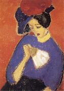 Alexei Jawlensky Woman with a Fan oil painting reproduction
