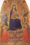 Madonna and Child Enthroned,with Angels and Saints