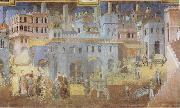 Ambrogio Lorenzetti Life in the City oil painting reproduction
