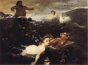 Arnold Bocklin The Waves oil painting reproduction