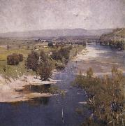 Arthur streeton The Purple moon's transparent might oil painting reproduction