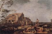 BLOEMAERT, Abraham Landscape with Peasants Resting oil painting reproduction